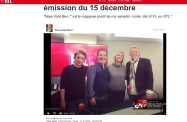 """RTL émission de radio """"Nous Voilà Bien !"""" Renato Pappalardo les bienfaits du massage avec Flavie Flament"""